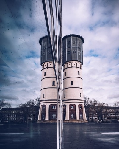 Watertower reflection