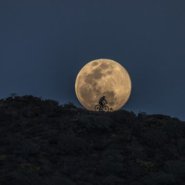 Full moon on March 20, 2019