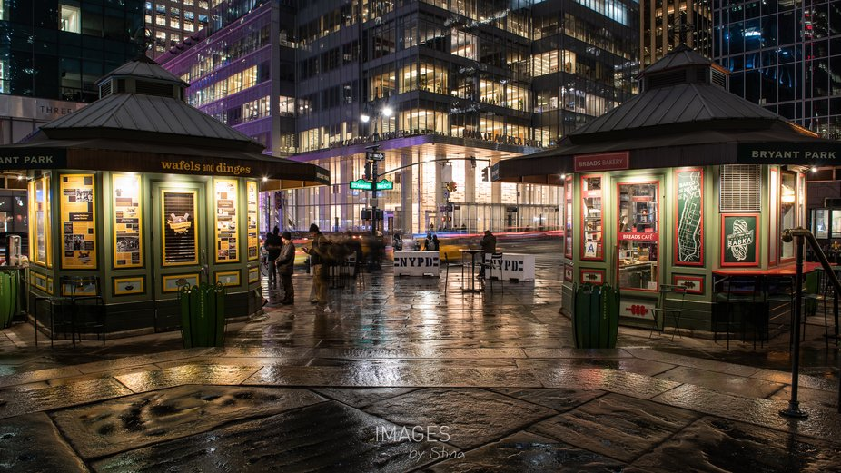 Long exposure shoot at Bryant Park, NYC.