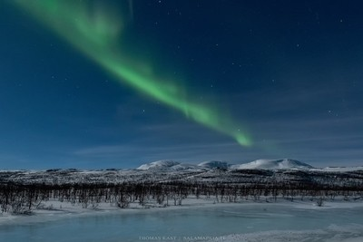 Moonlight and auroras