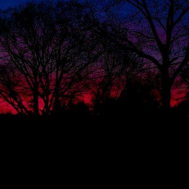 Sunset Outside My friends house GA