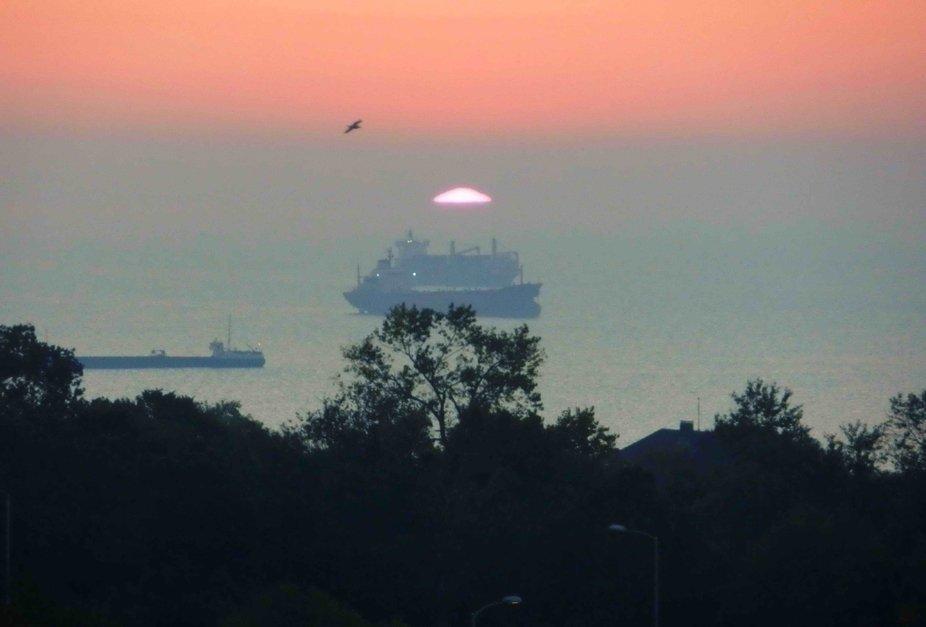 Sunrise over the Black Sea in Varna