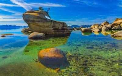 The Bonzi Rock of Lake Tahoe.