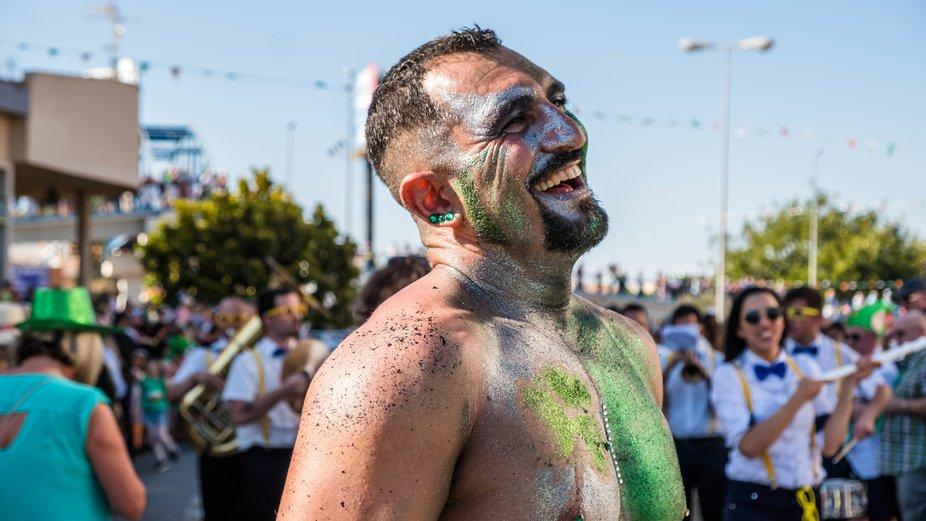 taken at St. Patricks Day celebrations in Spain.