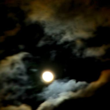 Colorful moon & clouds