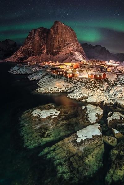 Hamnøy at Night.