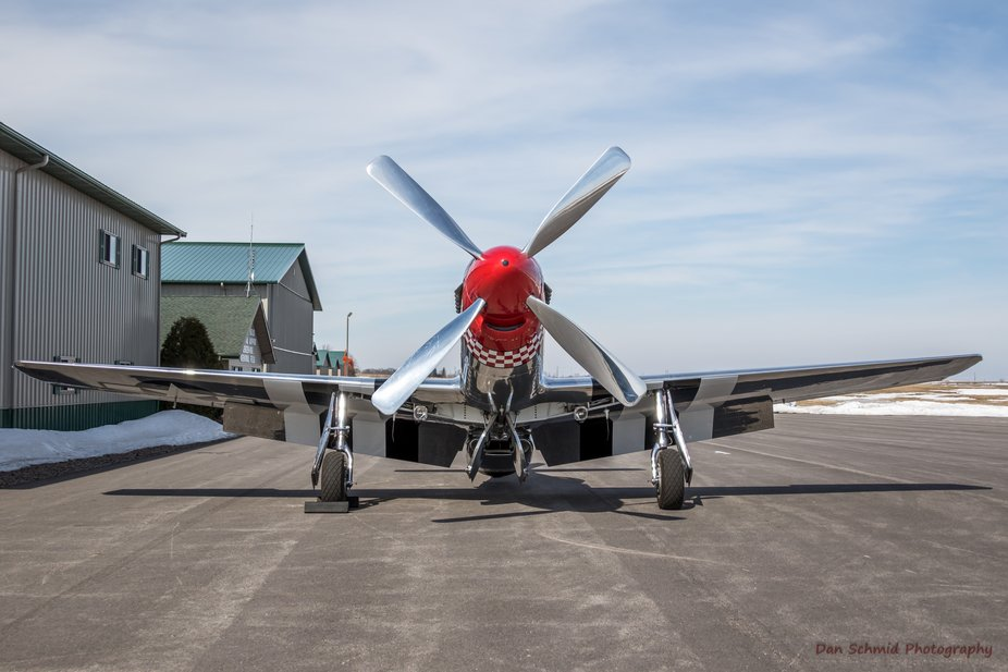"""North American P-51D Mustang """"Sweet Revenge"""" at the Fagen Fighters WWII Museum."""