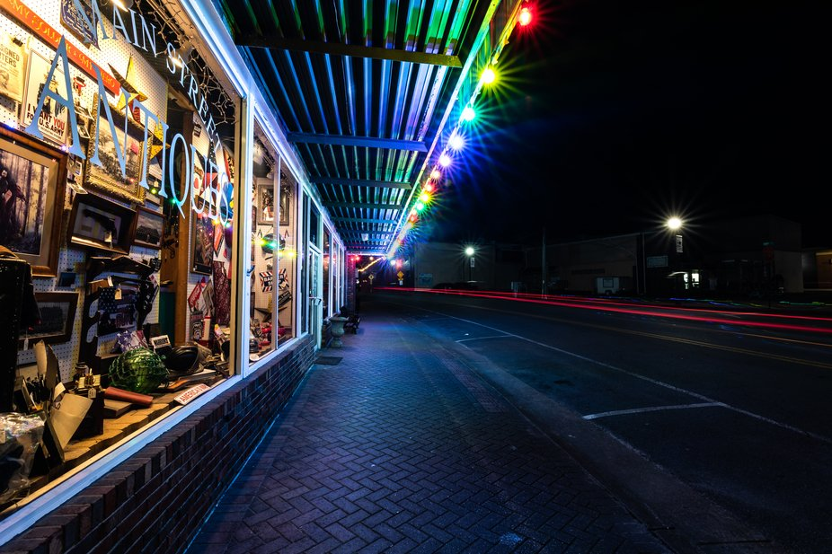 The streets of my small home town city (Ellijay, Ga) late at night. It takes on such a new beauty...