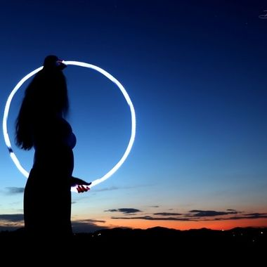 Led hooping sun set