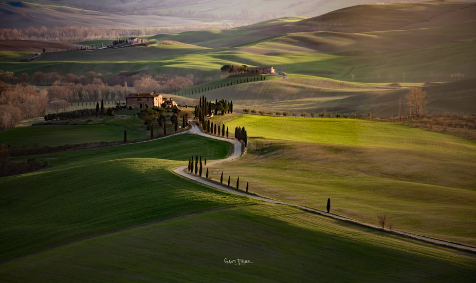 Views from Pienza fortress, in Tuscany, Italy.