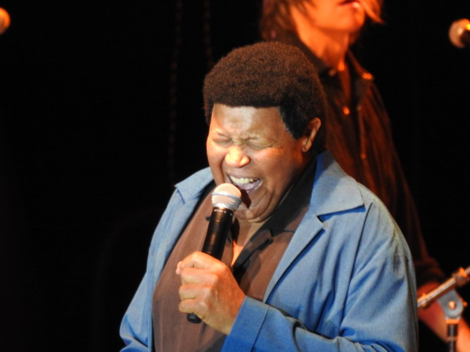 Chubby Checker can still belt it out!  He had us dancing in the aisles and singing along to his classic songs!