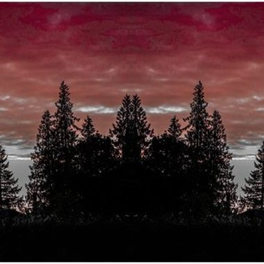 Manipulation of. Sunset shot in the pacific northwest