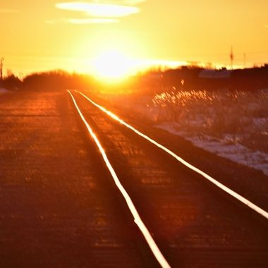 Had to stop and shoot this as the rails gleamed in the setting sun
