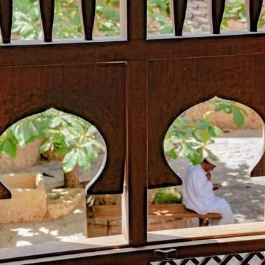 View through Omani window