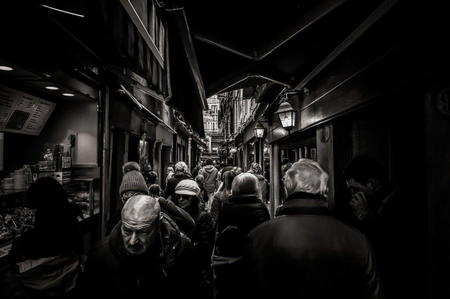 Busy Venetian streets