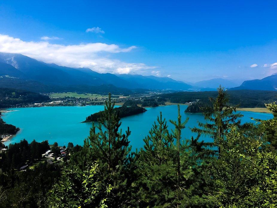 Blue lake villach austria