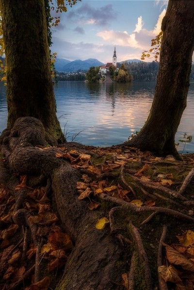 Bled lake in Autumn