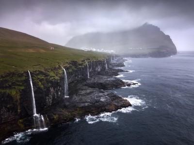 Coastline of Waterfalls