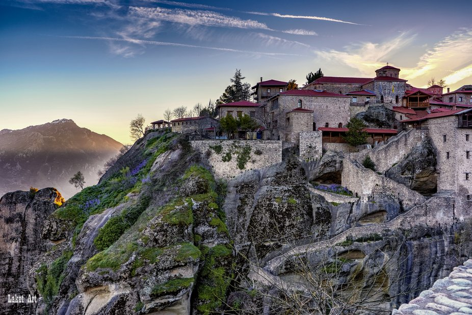 One of the old 24 Monasterys in Meteora,Greece.