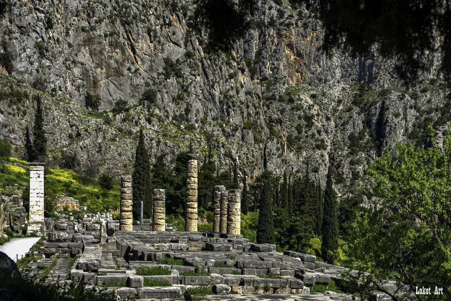 The Temple of Oracle from Dalphi, Greece.