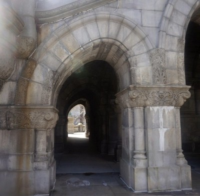 Archway in old building