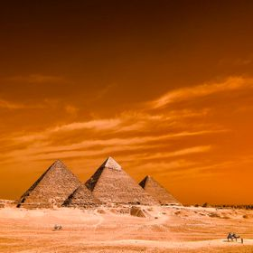 The great Pyramid's of Giza  by Infrared Photogrphy