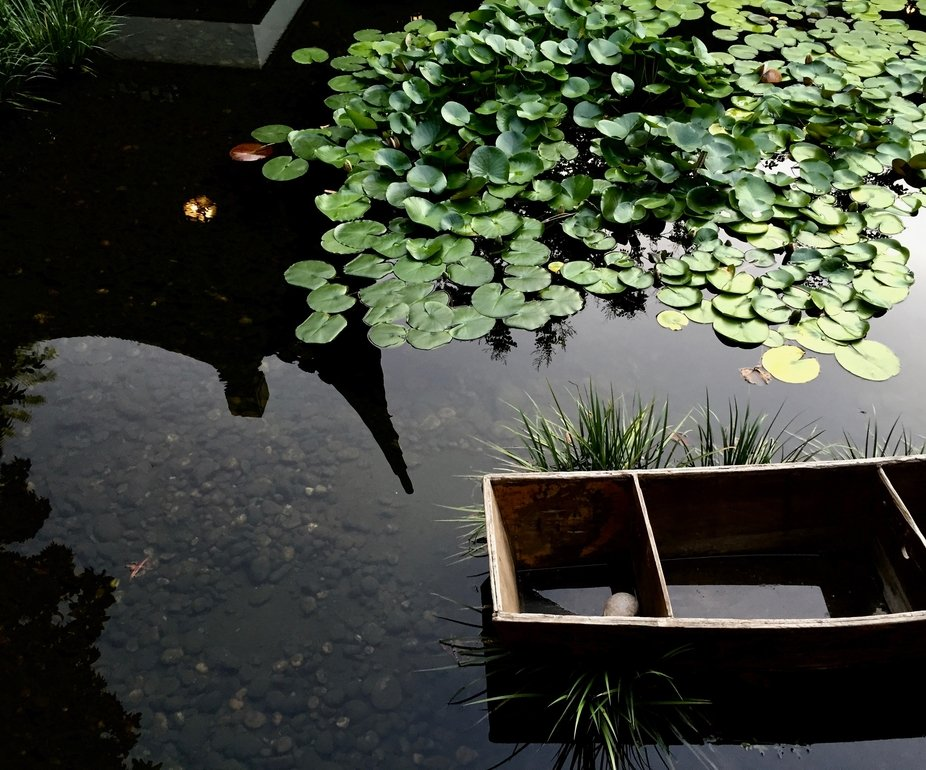 A Japanese garden in its perfect peace.
