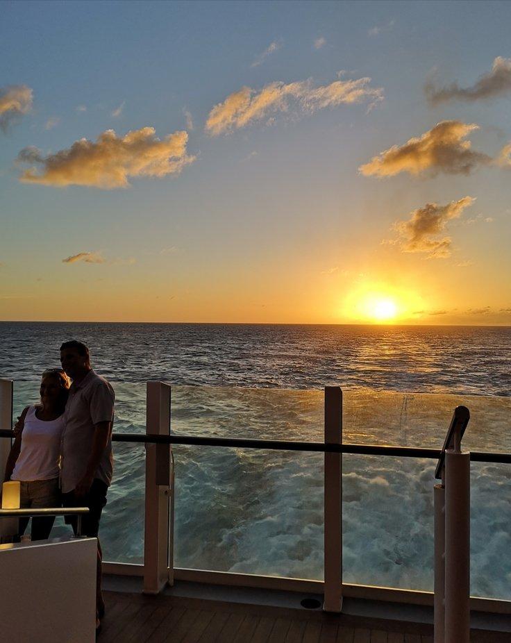 Romantik bei Sonnenuntergang