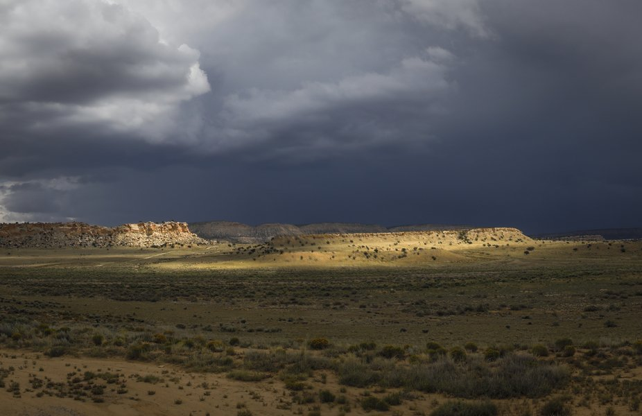 Menacing clouds developing over Chaco Canyon, NM