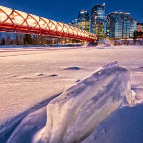 I've been busy working for January to February and I walked into Peace Bridge over the Bow River, but it was of cover of snow like there was a ...