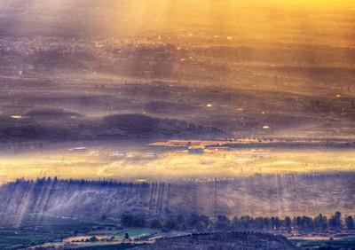 The sunbeams at dawn