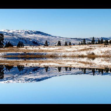 Winter at Nicola Lake