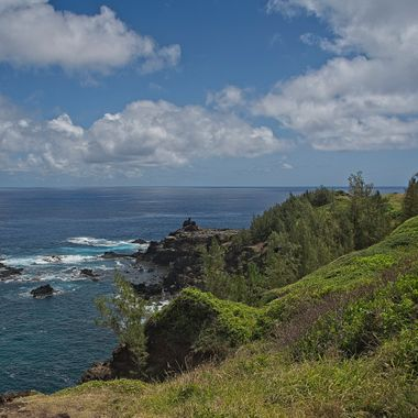 A view from the seldom traveled north coast of the island of Maui.