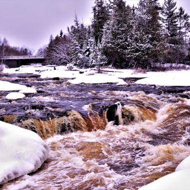 November at Bigfalls Rapids