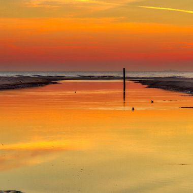 Sunset at the Slufter, Texel, Holland