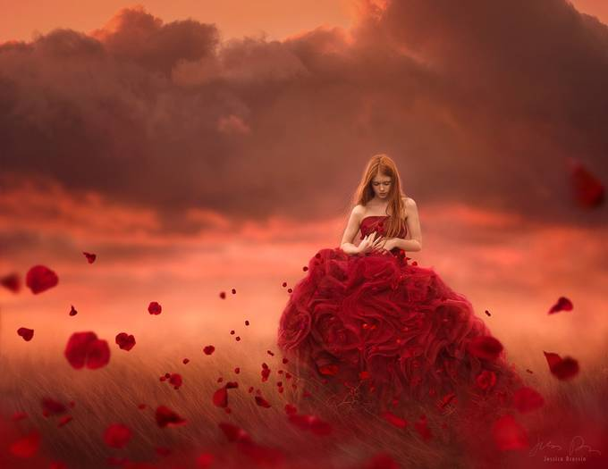 Pieces of Me by JessicaDrossin - Capture Red Photo Contest