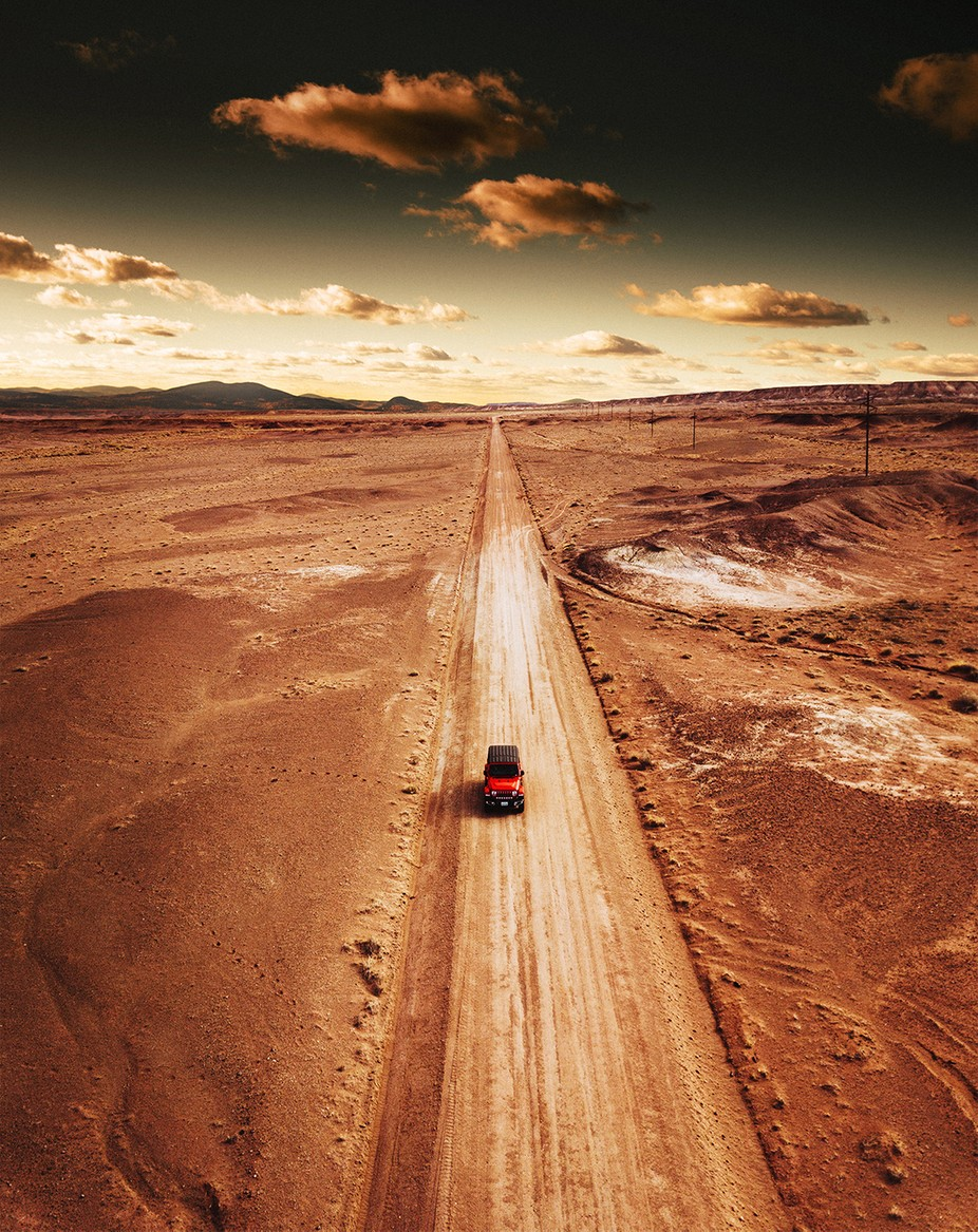 Driving in arizona on the desert by franckreporter - Image Of The Month Photo Contest Vol 44