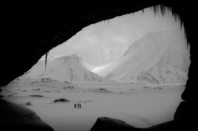Ice Cave on Icelandic Glacier
