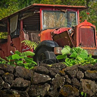 A relic from a bygone era on the Hana Ranch in Hana, Hawaii