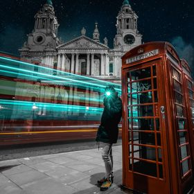 I took this shot on my last night in London. Long exposure (4 seconds) catching a double decker and using my phone's flash. I replaced the s...