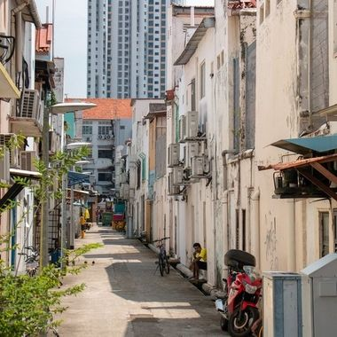 Alley in the Indian quarter, Singapore