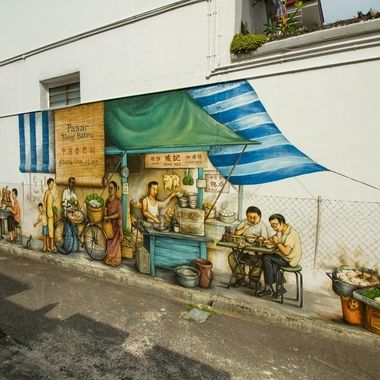 Wall painting at Tiong Bahru, `Singapore
