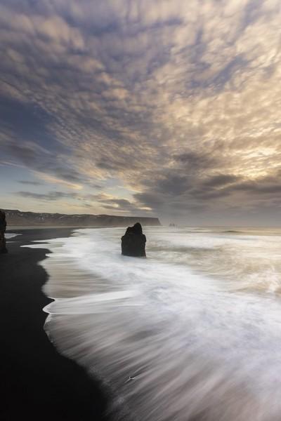 Sunrise at black beach