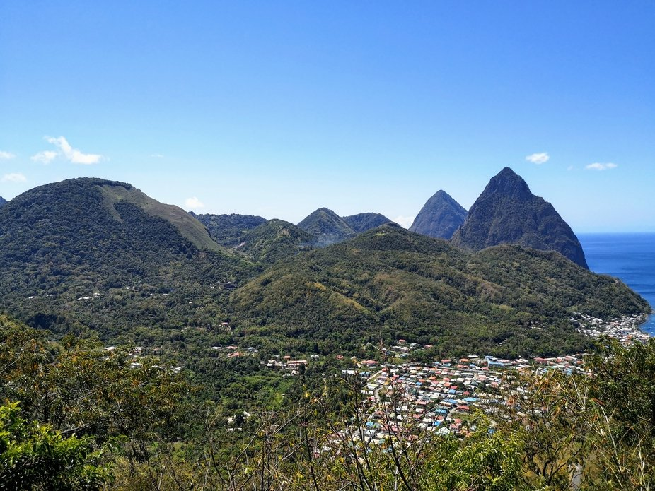 Two Pitons in St. Lucia