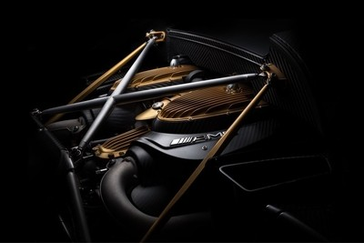 AMG engine fine art photo designed for Pagani. Shoot on Pagani agency showroom floor using FDL technique.