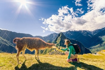 Contact with locals at Machu Picchu