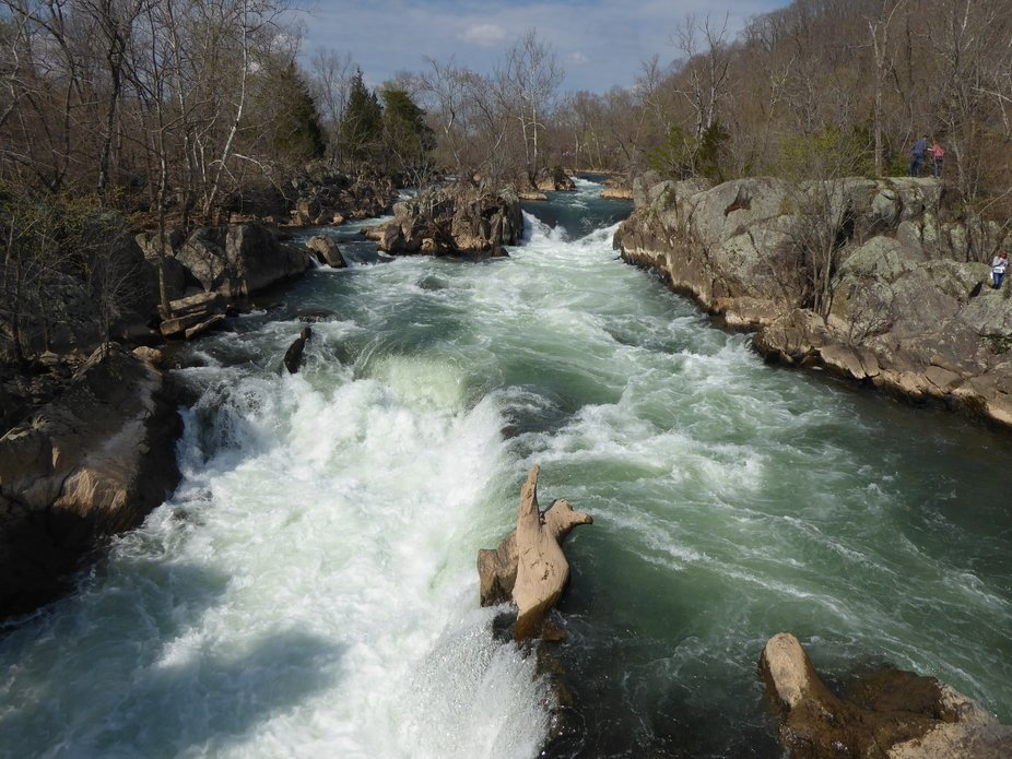 This is an arm of the Potomac River at Great Falls (Maryland). Photo captured in the afternoon, e...