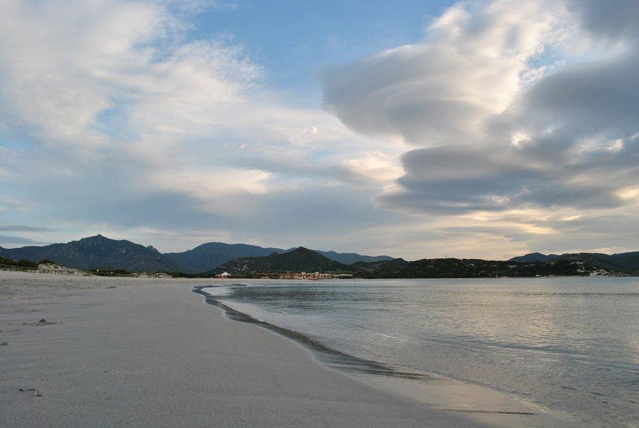 nuvole sulla spiaggia di Notteri