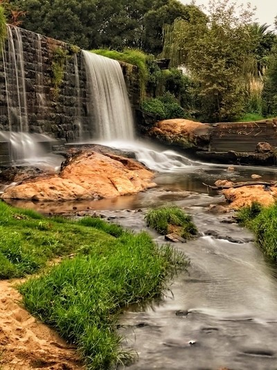 WATERFALL IN LONG EXPOSURE -BRAAMFONTEIN SPRUIT