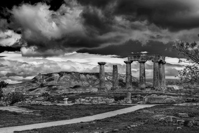 Temple of Ancient Corinth in Greece.